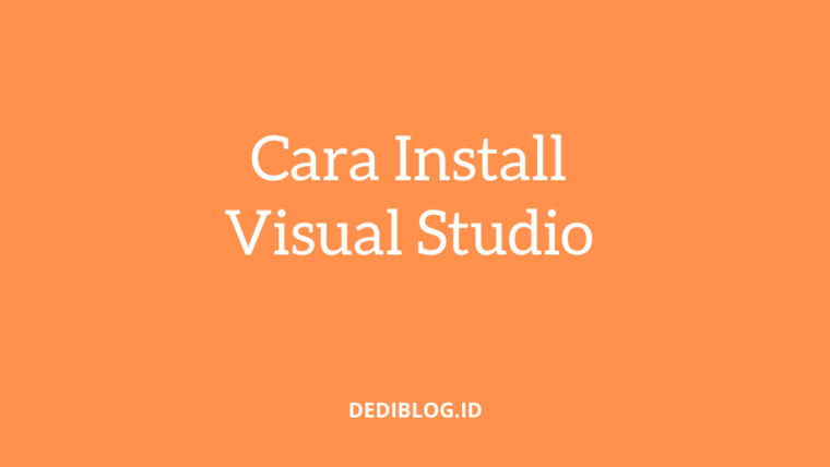 Cara Install Visual Studio Professional 2019